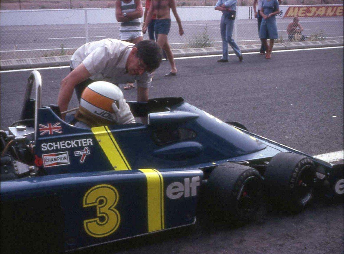 Scheckter  sur Tyrrell P34