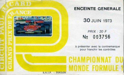 circuit paul ricard les ann es l gende grand prix de france f1 1973. Black Bedroom Furniture Sets. Home Design Ideas